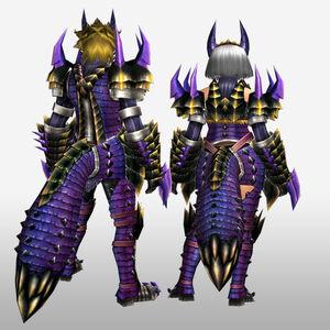 FrontierGen-Kemoru Armor (Both) (Back) Render