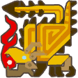 File:MH3U-Gold Rathian Icon.png