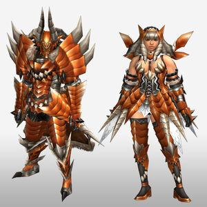 FrontierGen-Buraito Armor (Both) (Front) Render