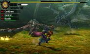 MH4U-Rathalos and Azure Rathalos Screenshot 001