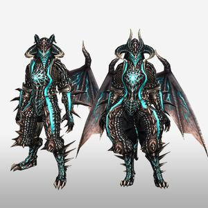FrontierGen-Dragon G Armor (Blademaster) (Front) Render