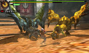 MH4-Azure Rathalos and Gold Rathian Screenshot 001