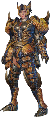 File:MHO-Tigrex Armor (Blademaster) (Female) Render 001.png