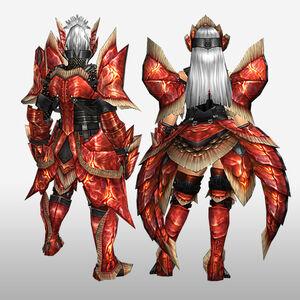 FrontierGen-Dikuto Armor (Blademaster) and Diretto Armor (Gunner) (Back) Render