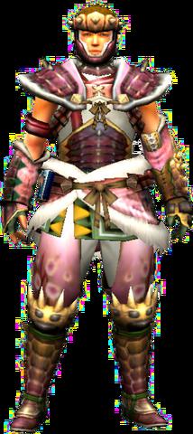 File:MHXR-Hidari Sakura Armor (Both) (Male) Render 001.png