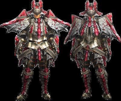 MH4U-Ruby Basarios Armor (Blademaster) Render 001