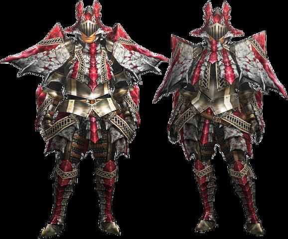 File:MH4U-Ruby Basarios Armor (Blademaster) Render 001.png