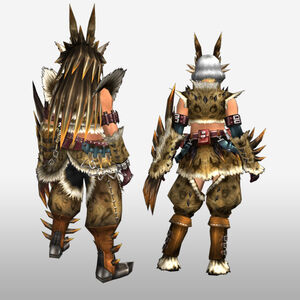FrontierGen-Hejji G Armor (Gunner) (Back) Render