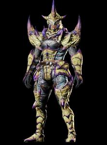 MHO-Dread Baelidae Armor (Blademaster) (Male) Render 001