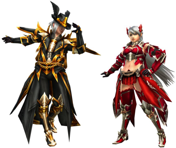 File:FrontierGen-Moonlit Gun Prodigy and Crimson Bow Demon Armor (Both) Render 2.png