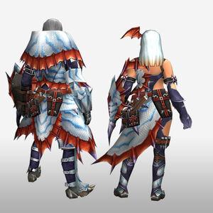 FrontierGen-Sutoroma Armor (Gunner) (Back) Render