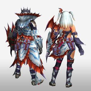 FrontierGen-Puranda G Armor (Gunner) (Back) Render