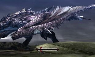 MH4U-Silver Rathalos Left Wing Break 002