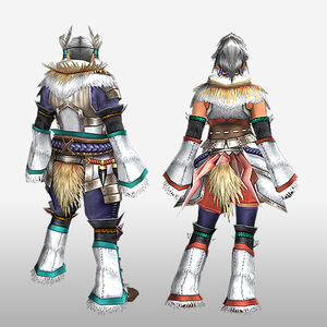 FrontierGen-Kagura Armor (Blademaster) (Back) Render