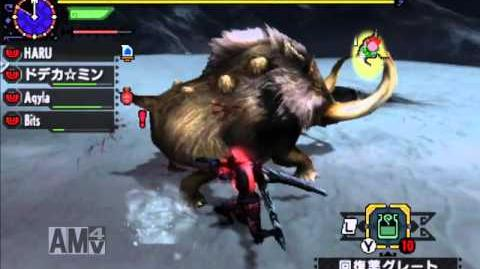 【MHX】 集☆4 猪突猛進! ドスファンゴ(ドスファンゴ1頭の狩猟) オンライン 太刀/ブシドースタイル