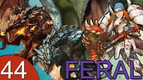 Monster Hunter 4 Nubcakes 44 - FERAL Rathalos & Azure Rathalos English commentary online gameplay