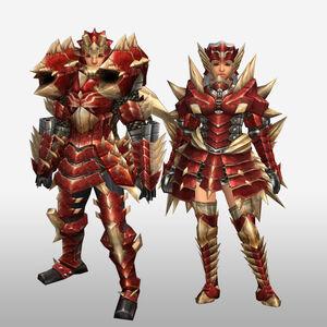 FrontierGen-Odiba Armor (Blademaster) (Front) Render