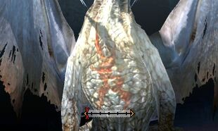 MH4U-White Fatalis Chest Break 002