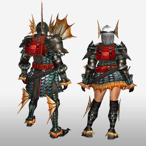 FrontierGen-Gareosu G Armor (Blademaster) (Back) Render