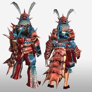 FrontierGen-Kukku G Armor (Gunner) (Back) Render