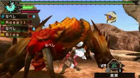 MHP3 HR5 Barioth Subspecies + Intruder Quest (Tigrex) Part 1 Team Run