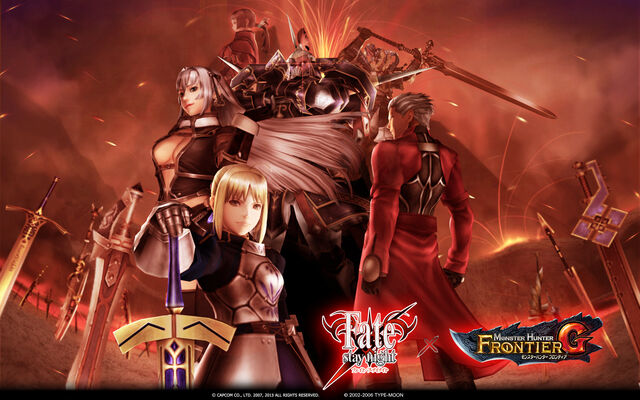 File:FrontierGen-Fate stay night x MHF-G Wallpaper 001.jpg