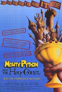 Monty python and the holy grail 2001 release movie poster