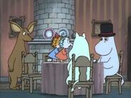 Moomintroll, Sniff, Thingumy, Bob and Moominpappa