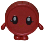 Penny figure bauble red
