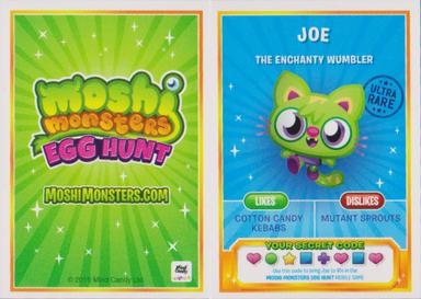Egg Hunt trading card back and front