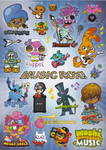 Issue 14 music rox stickers
