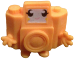 Holga figure electric yellow