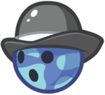 Blue Blob Bowler Ball