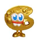 Splatter figure gold