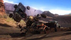 MotorStorm crash