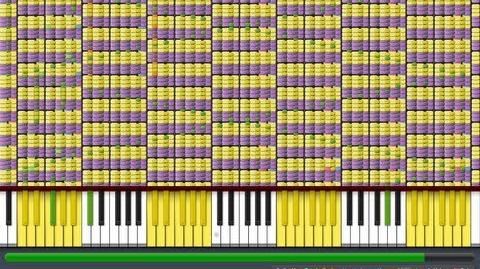 """Black MIDI Synthesia - """"What does the Fox Say?"""" 1.1 Million Notes - The Fox - Ylvis ~ Gingeas"""