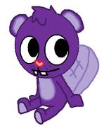 Toothy purple drawn
