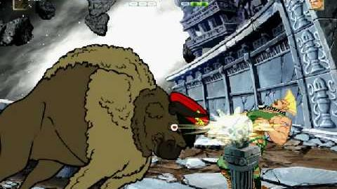 MUGEN This is Delicious!! (Literal Bison vs Guile)