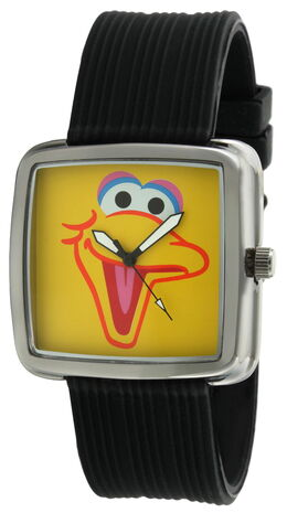 Viva time black rubber strap big bird