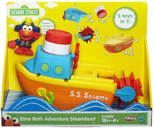 HasbroPlayskool-SesameStreet-Figures-Elmo-Bath-Adventure-Steamboat02