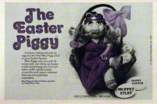 Easter Piggy doll - Muppet Stuff ad