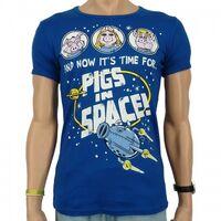 Logoshirt-PigsInSpace-SlimFitT-Shirt-blue
