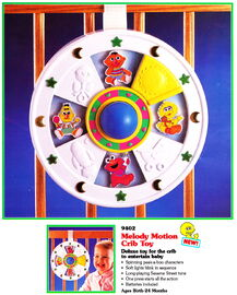 Tyco 1994 melody motion crib toy