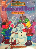Golden 1979 ernie and bert coloring book