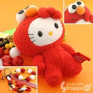 Strapya 2011 mascot hello kitty plush elmo japan