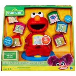 Elmo alphabet blocks box