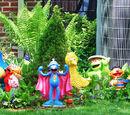 Sesame Street lawn ornaments
