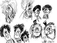 Little Jerry Test Drawings by JonnyBCartoonMan-1-