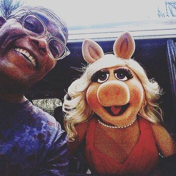 Samuel L Jackson and Piggy