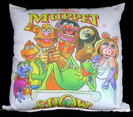 D & m satin throw pillow muppet show